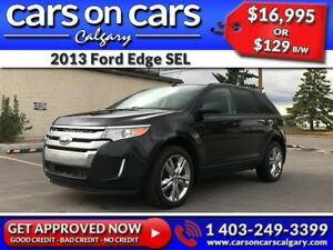 2013 Ford Edge SEL w/Leather, Sunroof, Navi $129 B/W INSTANT APP