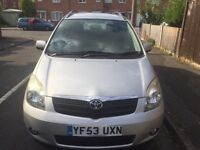2003 TOYOTA COROLLA VERSO petrol low miles with history