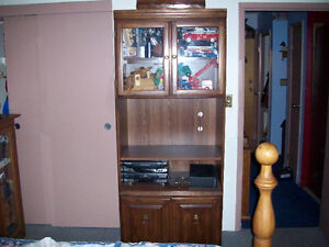WALNUT HIGH QUALITY BOOKCASE SOLID WOOD DOORS
