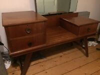 60s Art Deco dressing table - large
