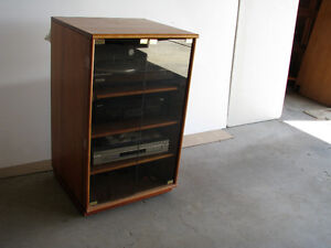 rolling cherry wood cabinets