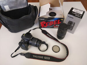 Canon EOS Rebel T3i SLR Camera with 2 lenses 18-55mm & 75-300mm