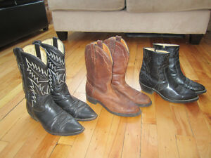 Cowboy Boots all sizes 8.5 each pair $50.