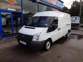 2013 FORD TRANSIT 100 T300 FWD LWB MID HIGH ROOF - TOP SPEC VAN WITH SAT NAV, CR