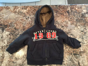 9 month children's place extra warm hoodie