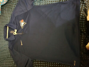 Blue Jays Large Nike Golf Shirt- MLB authentic/ DRIFIT