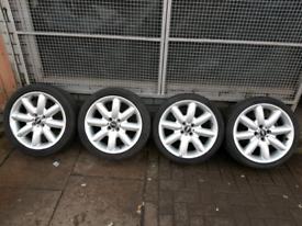 "17"" Mini Cooper s Alloy wheels with tyres"