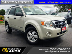2008 Ford Escape XLT | 165Km | SAFETY & E-TESTED