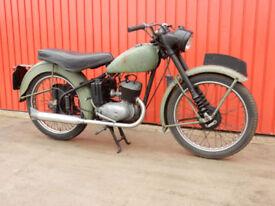BSA BANTAM D1 125cc 1961 - RUNS & RIDES IDEAL LEARNER LEGAL RIDER