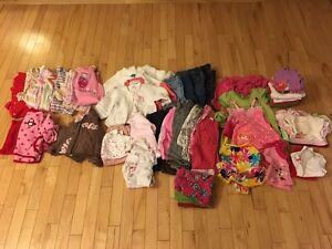 Lot of baby girl clothes 0-12 months