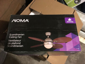 4 BRAND NEW NOMA Scandanavian Fan with Light Fixture and Remote