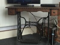 Singer sewing machine table.
