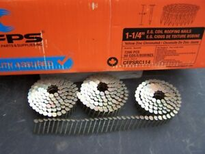 Roof/Build Supplies: nails,drywall screws, bolts, lags, plumb.