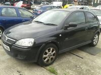 2005 Vauxhall Corsa Manual Petrol 1.2 i 16v SXi+ 3dr Hatchback Black Hpi Clear