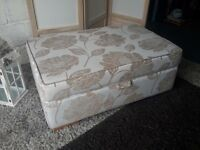 New Extra Large Fabric Storage Footstool Ottoman