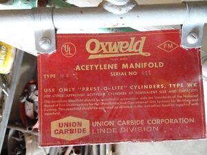 Acetylene & oxygen manifolds