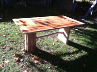 Reclaimed wood coffee and patio tables