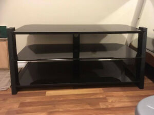 Lovely Black Glass TV Stand