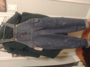 Denim women's baggy overalls