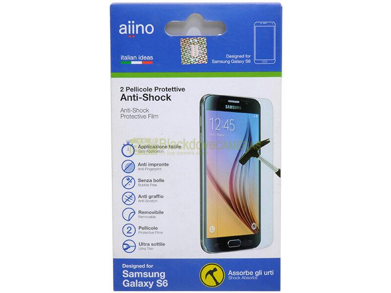 Aiino N° 2 pellicole protettive anti shock per Samsung Galaxy S6.