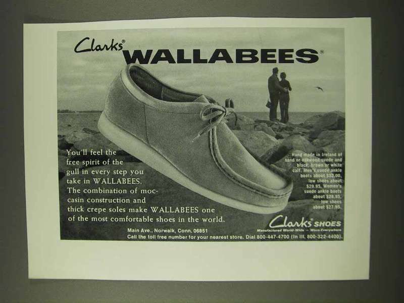 1973 Clarks Wallabees Shoes Ad