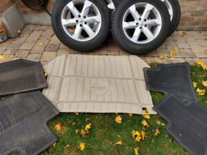Nissan Murrano winter mats and tires