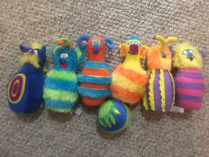 Melissa and Doug monster bowling set plush toys baby toddler