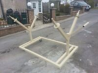 Alloy wheel refurb stand