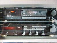 Recepteur AMFM Denon, Tape Deck Denon, 2 Hauts-parleurs, 2 bases