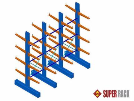 NEW HEAVY DUTY CANTILEVER RACKING STORAGE PALLET RACK WAREHOUSE