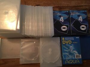 Huge lot of new DVD/CD cases that can hold up to 128 DVD/CD