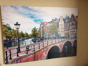 Large Format Canvas of Amsterdam