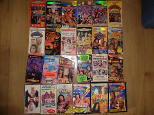 HUGE Wrestling Clearance Sale! WWE/TNA/WCW - VHS and DVD! London Ontario image 8