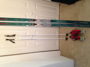 Skis , boots and poles