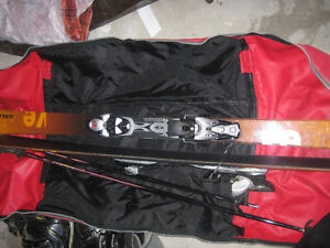 Salomon Skis and carry bag (and Scott ski poles) NEW PRICE