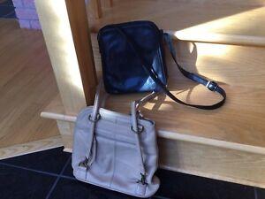 Clark's Leather purse and Danier Leather Handbag