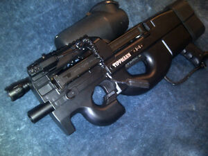 Custom Tippmann A5 P90 paintball gun