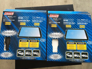 Two Coleman 4W Solar Battery Trickle Charger