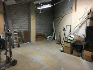 CHEAP 700 SQ. Ft. Back Space/Warehousing/Storage Available