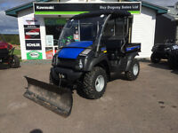 2014 Kawasaki 610XC with plow and trailer