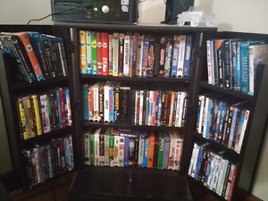 DVDs, Blue Ray's, VHS's and VHS player