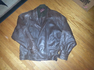 MENS DANIER BROWN LEATHER JACKET