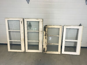 Old wooden frame windows