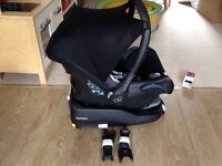 Maxi Cosi Family fix base, Cabriofix seat and bugaboo adaptors