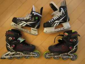 15$ - Roller Blades and 20$ - Hockey Scates