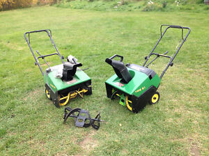 John Deere snow blower-One runs , one for parts