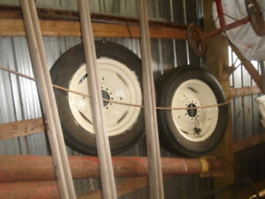 hay wagon wheels