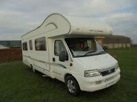 2005 Bessacarr E495 6 berth rear u shaped-lounge Motorhome for sale **REDUCED**