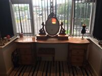 Solid real wood dressing table