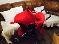 Mothercare 3 In 1 Pushchair - Car Seat Carry Cot /pram